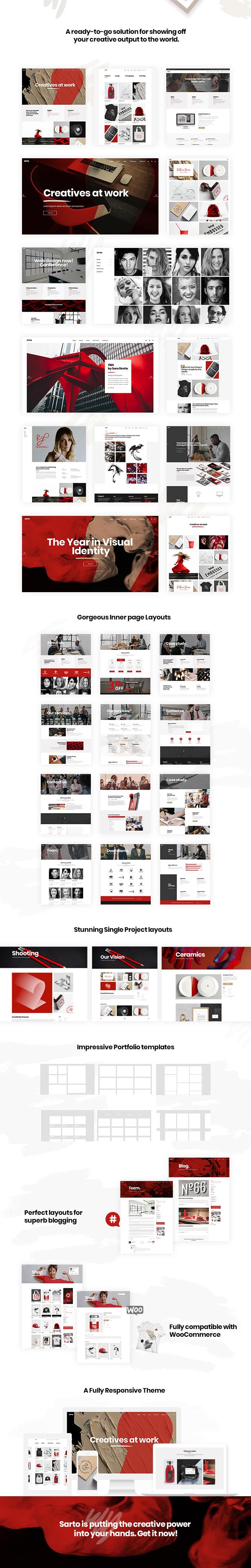 Sarto -  Web Design & Creative Agency Theme - 1